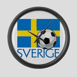 Sverige Fotboll Large Wall Clock
