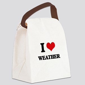 I love Weather Canvas Lunch Bag