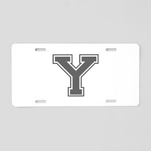 Y-var gray Aluminum License Plate
