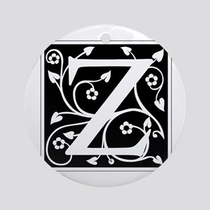 Z-ana black Ornament (Round)