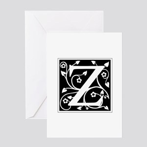 Z-ana black Greeting Cards