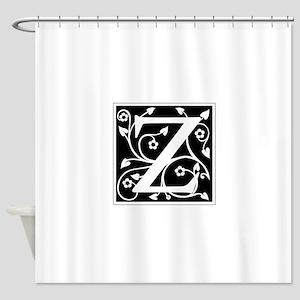 Z-ana black Shower Curtain