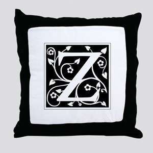 Z-ana black Throw Pillow