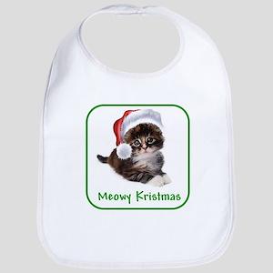 Christmas Kitty Cat Bib