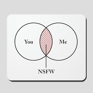 You and Me NSFW Venn Diagram Mousepad