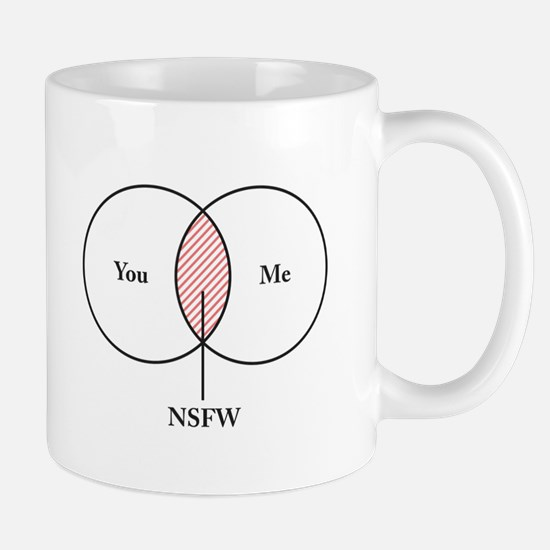 You and Me NSFW Venn Diagram Mugs