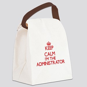 Keep calm I'm the Administrator Canvas Lunch Bag