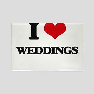 I love Weddings Magnets