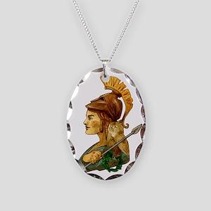 Athena Necklace Oval Charm