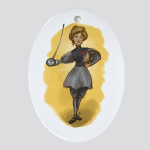 The Victorian Fencer Oval Ornament