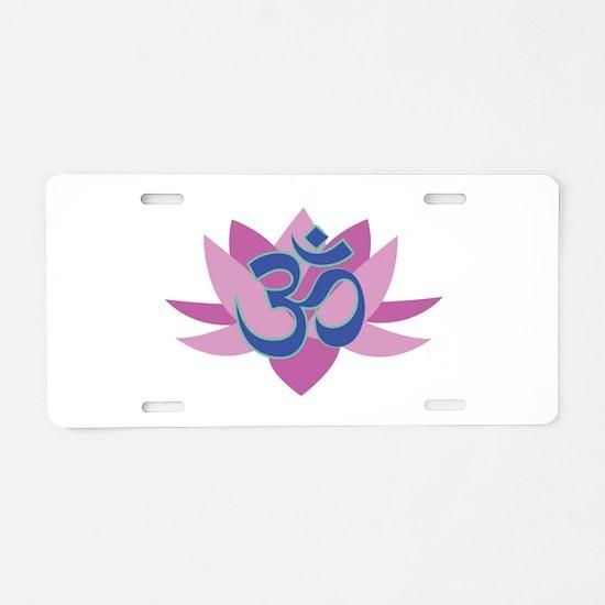 Om_Symbol_Base Aluminum License Plate