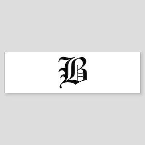 B-oet black Bumper Sticker