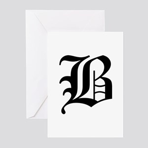 B-oet black Greeting Cards
