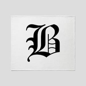 B-oet black Throw Blanket