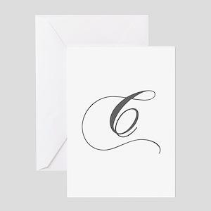 C-cho gray Greeting Cards