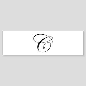 C-edw black Bumper Sticker