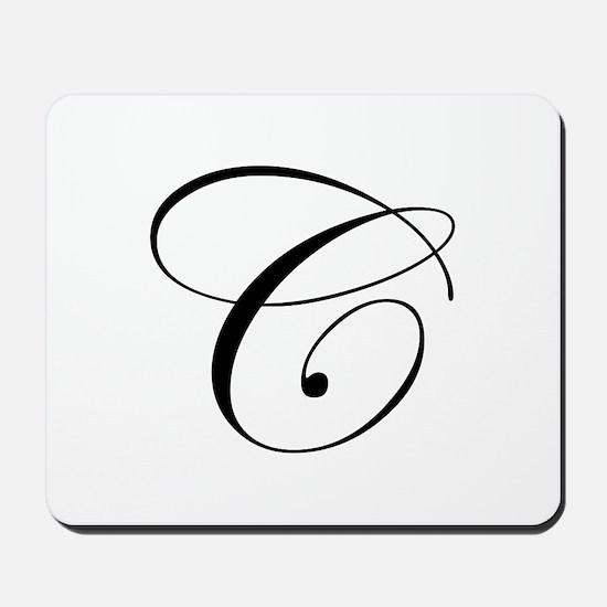 C-edw black Mousepad