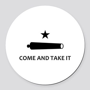 BATTLE OF GONZALES Round Car Magnet