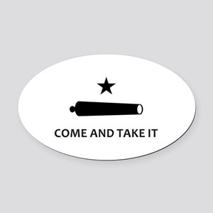 BATTLE OF GONZALES Oval Car Magnet