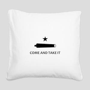 BATTLE OF GONZALES Square Canvas Pillow