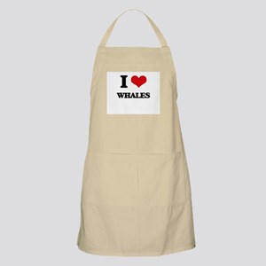 I love Whales Apron