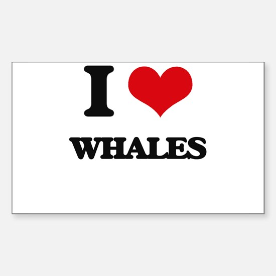I love Whales Decal