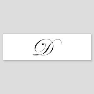 D-edw black Bumper Sticker