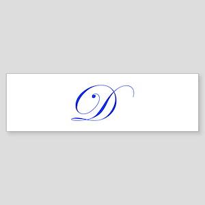 D-edw blue Bumper Sticker