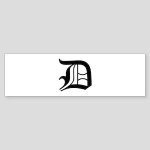 D-oet black Bumper Sticker