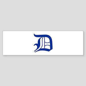 D-oet blue2 Bumper Sticker