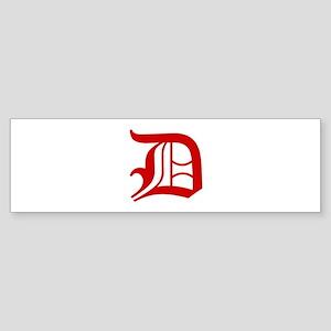 D-oet red2 Bumper Sticker