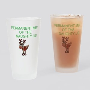 Naughty List Drinking Glass
