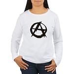 Anarchy-Blk-Whte Women's Long Sleeve T-Shirt
