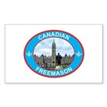 Proud Canada Mason Rectangle Sticker