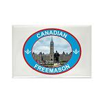 Proud Canada Mason Rectangle Magnet