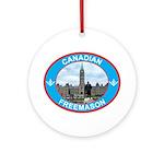 Proud Canada Mason Ornament (Round)