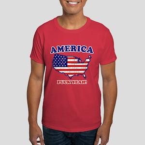 America Fuck Yeah! (Distresse Dark T-Shirt