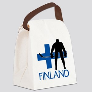 Finland Hockey Canvas Lunch Bag