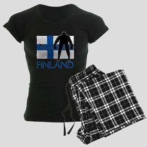 Finland Hockey Women's Dark Pajamas