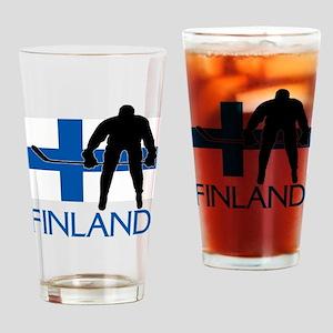 Finland Hockey Drinking Glass