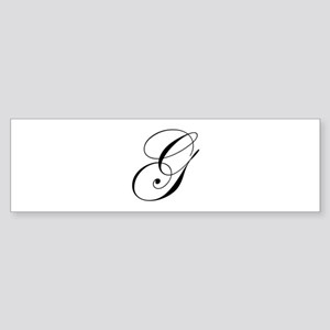 G-edw black Bumper Sticker