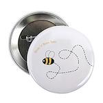 1st Bee Flying Fancy Button