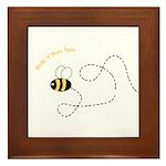 1st Bee Flying Fancy Framed Tile