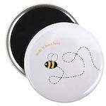 1st Bee Flying Fancy Magnet