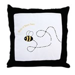 1st Bee Flying Fancy Throw Pillow