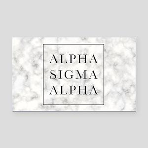 Alpha Sigma Alpha Marble Rectangle Car Magnet