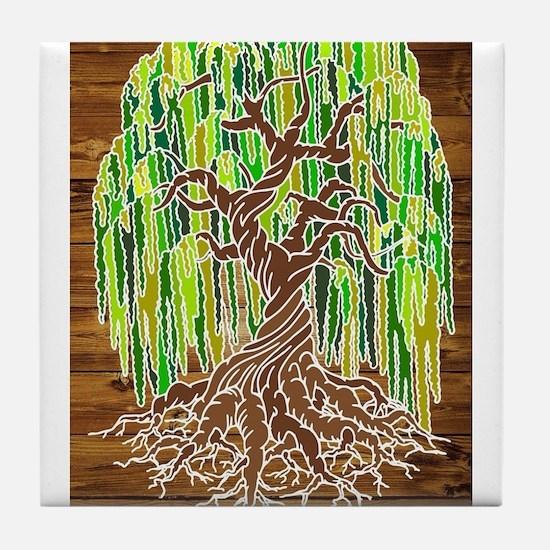 Willow Tree Tile Coaster