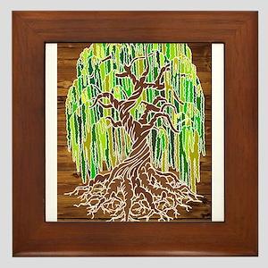 Willow Tree Framed Tile