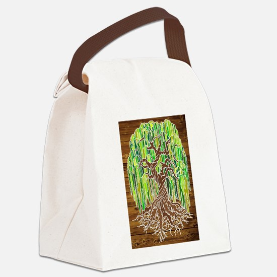 Willow Tree Canvas Lunch Bag