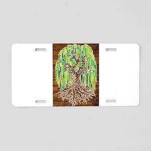 Willow Tree Aluminum License Plate